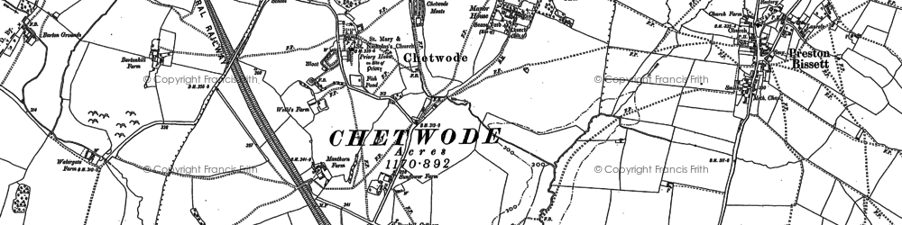 Old map of Chetwode in 1898