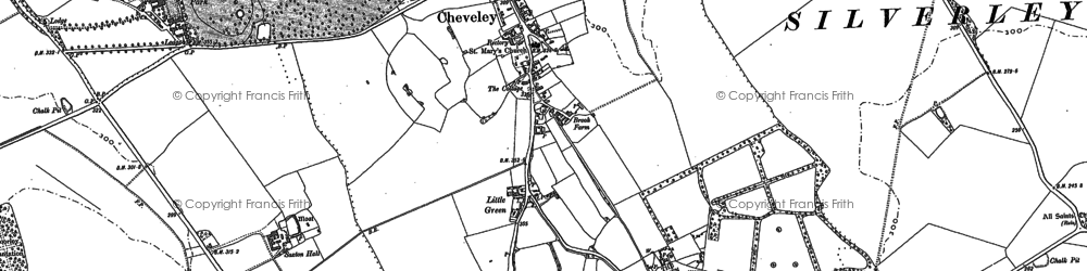 Old map of Cheveley in 1884