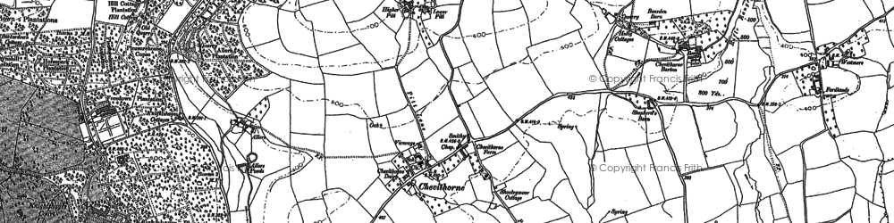 Old map of Westmere in 1887