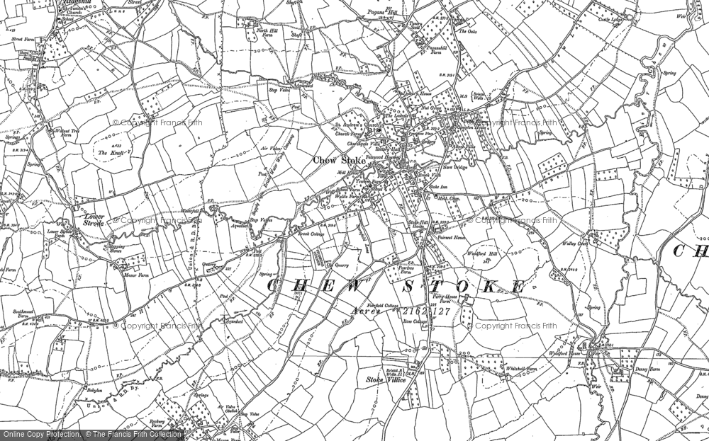 Old Map of Historic Map covering Woodford Hill in 1883