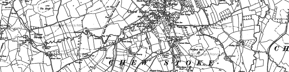Old map of Woodford Hill in 1883
