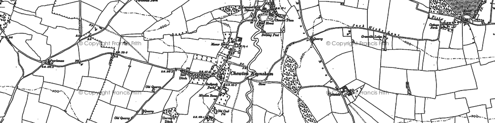 Old map of Burnett in 1882