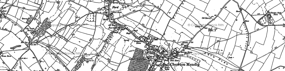 Old map of Bathway in 1884