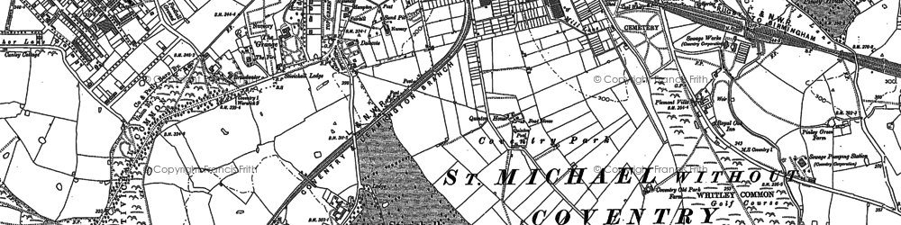 Old map of Whitley in 1886
