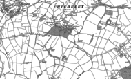Old Map of Chicheley, 1899 - 1924