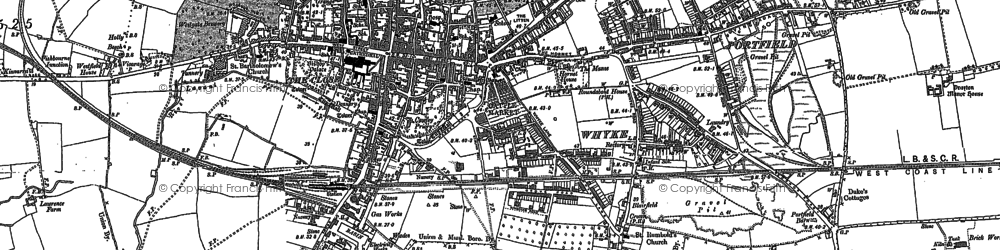 Old map of Whyke in 1896
