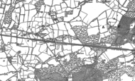 Old Map of Chiddingstone Causeway, 1895 - 1907