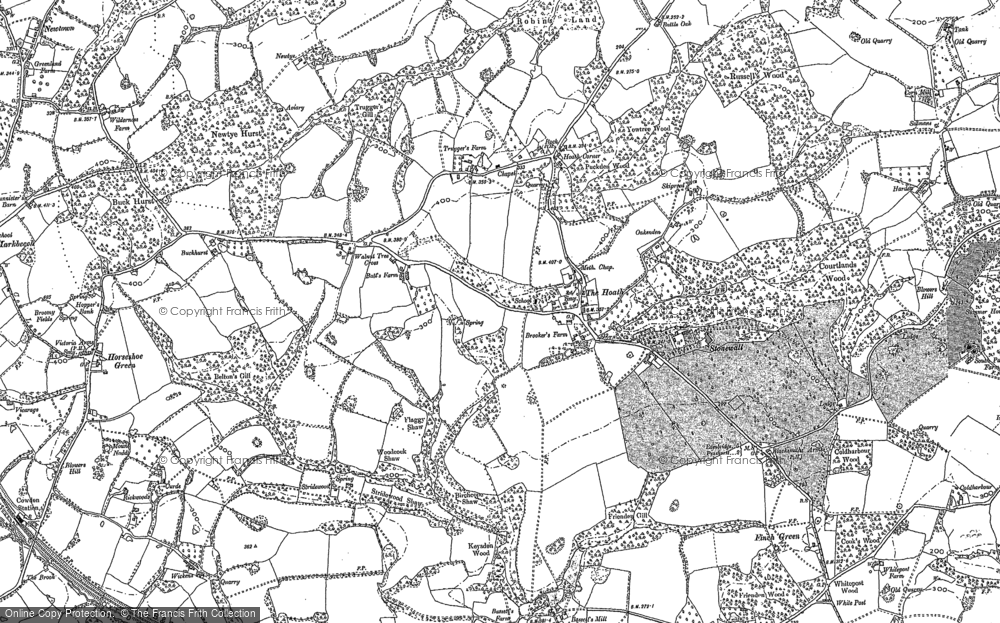 Old Map of Historic Map covering White Post in 1907