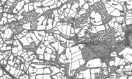 Old Map of Chiddingstone Hoath, 1907