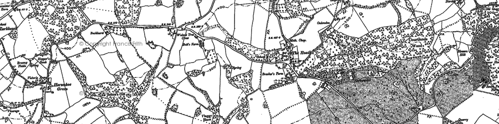 Old map of White Post in 1907