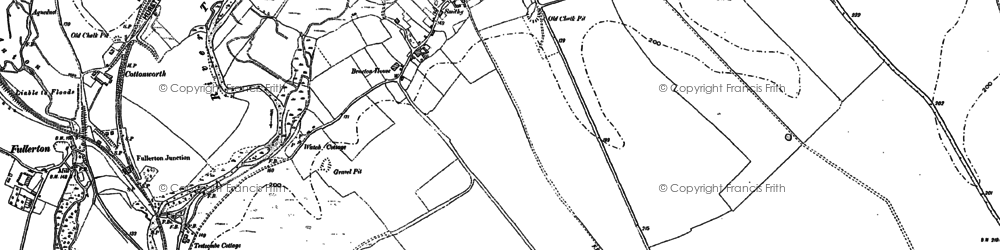 Old map of Chilbolton in 1894