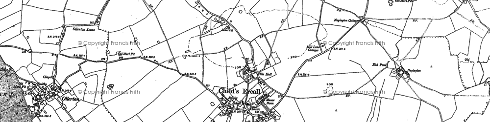 Old map of Childs Ercall in 1880