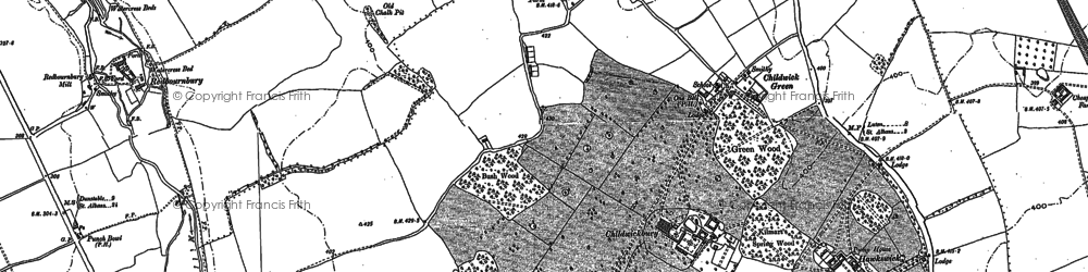 Old map of Childwick Green in 1897