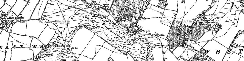 Old map of Westdean Woods in 1896