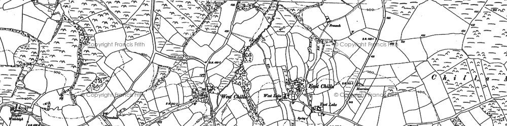 Old map of Winsford in 1884