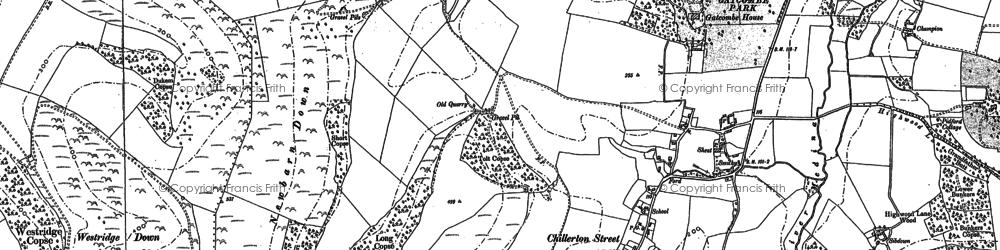 Old map of Westridge Down in 1896