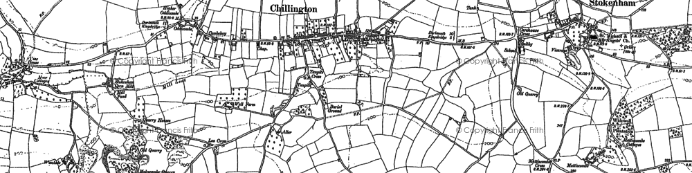 Old map of Chillington in 1905
