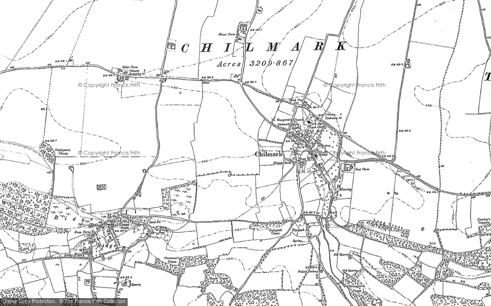Old Map of Historic Map covering Woodbine Barn in 1899
