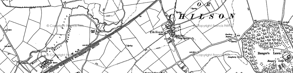 Old map of Wychwood Forest in 1898