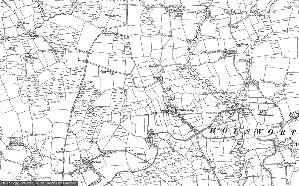 Old Map of Historic Map covering Babbington in 1883
