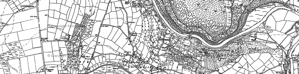 Old map of Chilsworthy in 1905