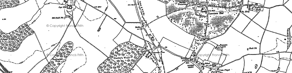 Old map of Chiltern Green in 1879