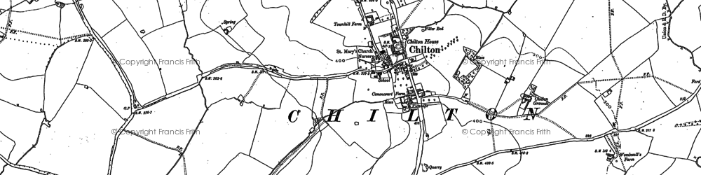 Old map of Chilton in 1898