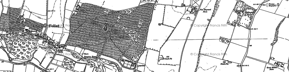 Old map of Chilton in 1899