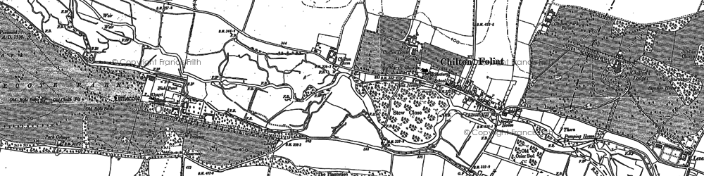 Old map of Chilton Foliat in 1899