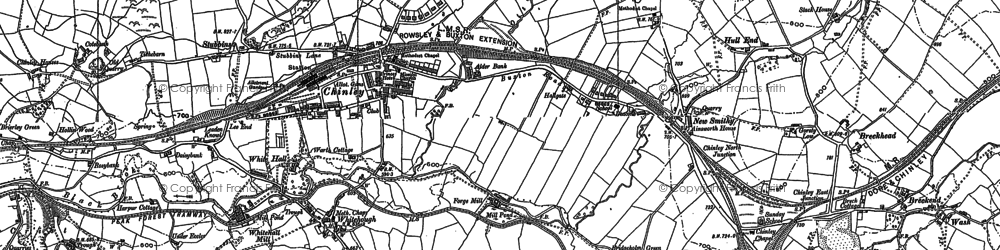 Old map of New Smithy in 1879