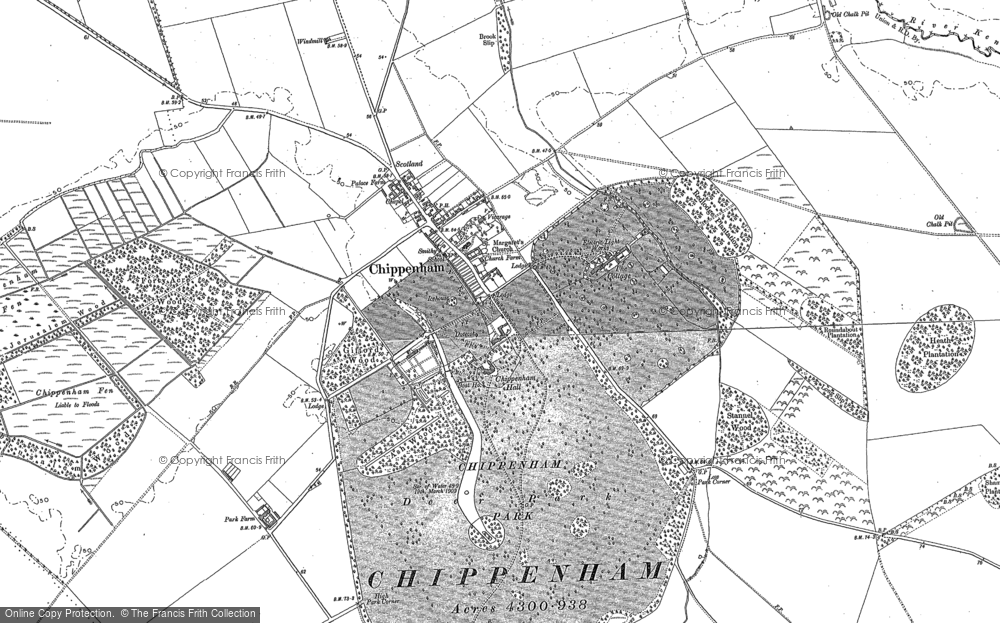 Old Map of Historic Map covering Badlingham Manor in 1884