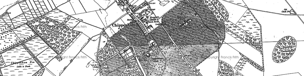 Old map of Badlingham Manor in 1884
