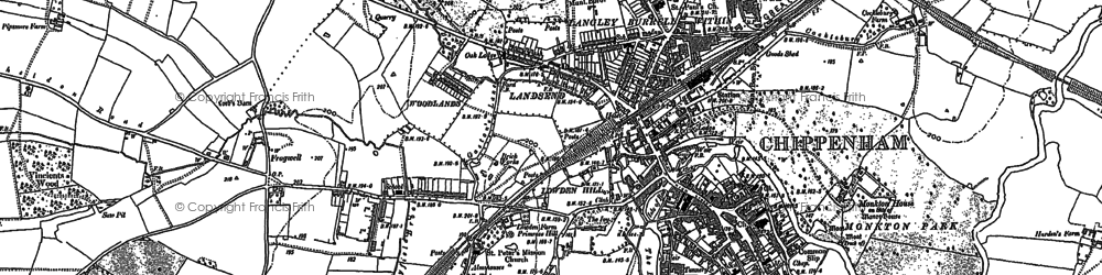 Old map of Chippenham in 1899