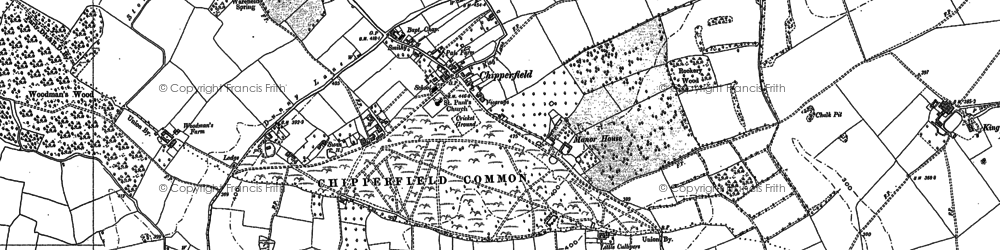 Old map of Chipperfield in 1897