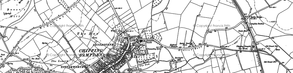 Old map of Chipping Campden in 1900