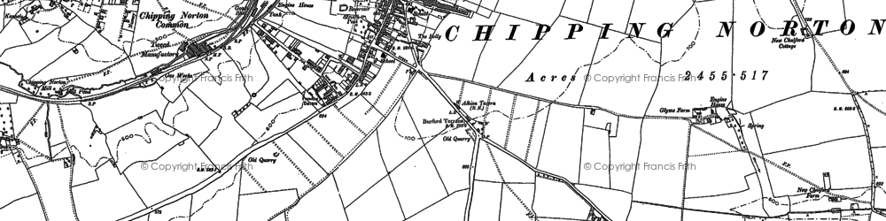 Old map of Chipping Norton in 1898