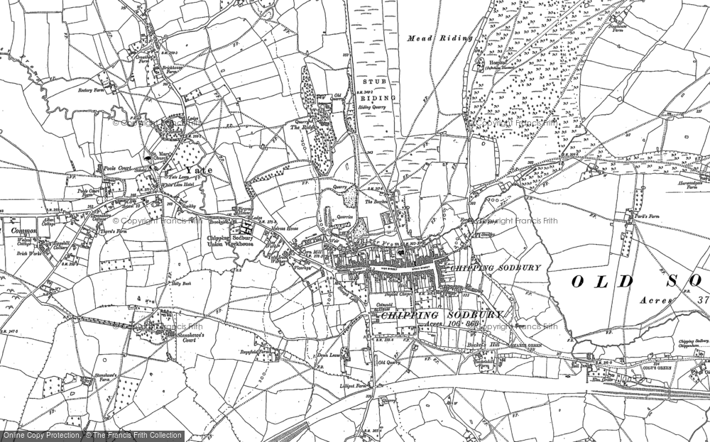 Old Map of Chipping Sodbury, 1881 in 1881