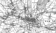 Old Map of Chipping Sodbury, 1881