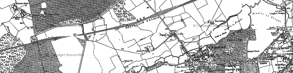 Old map of Chipstead in 1895