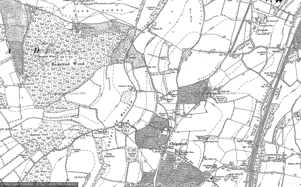 Old Map of Chipstead, 1895 in 1895