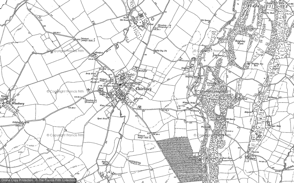 Old Map of Historic Map covering Timberth in 1910