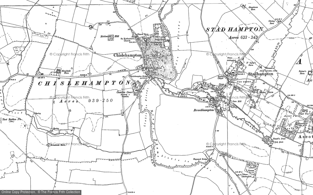 Old Map of Chiselhampton, 1897 - 1919 in 1897
