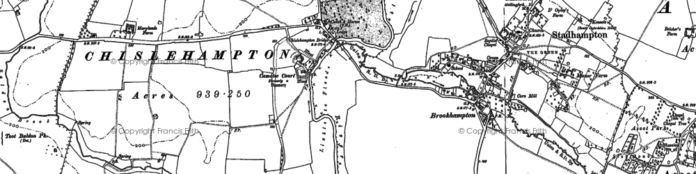 Old map of Chiselhampton in 1897