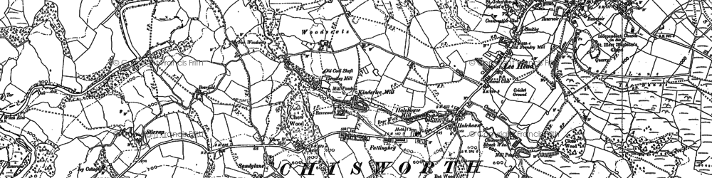 Old map of Woodseats in 1897