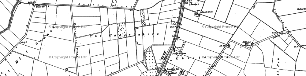 Old map of Chittering in 1886