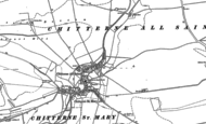 Old Map of Chitterne, 1899