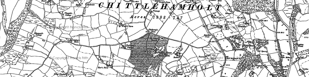 Old map of Whitmore in 1886