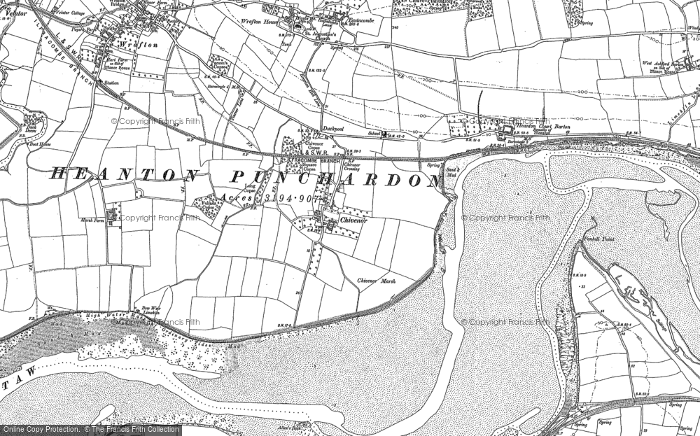 Old Map of Historic Map covering Allen's Rock in 1886