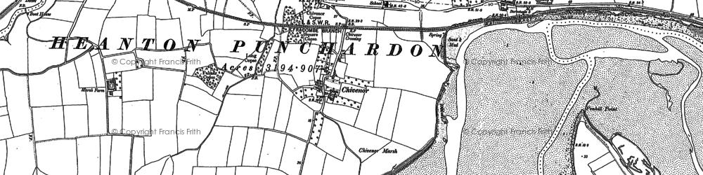 Old map of Allen's Rock in 1886