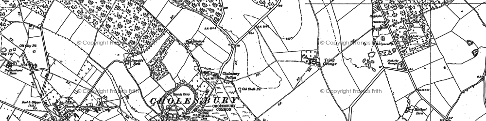Old map of Cholesbury in 1897